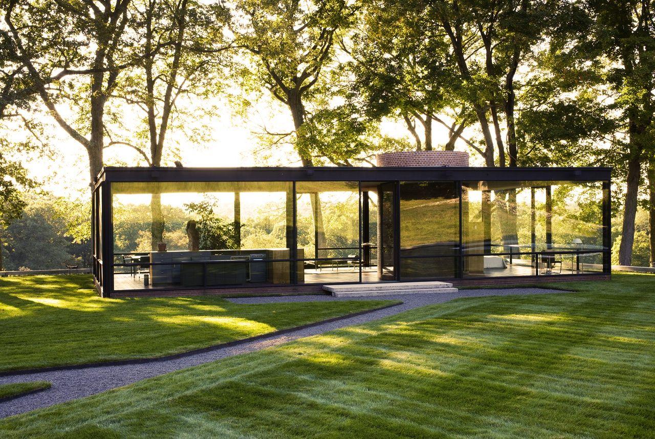 Pin by architectural bureau saprykin pouzireva on philip johnson g - Philip johnson glass house ...