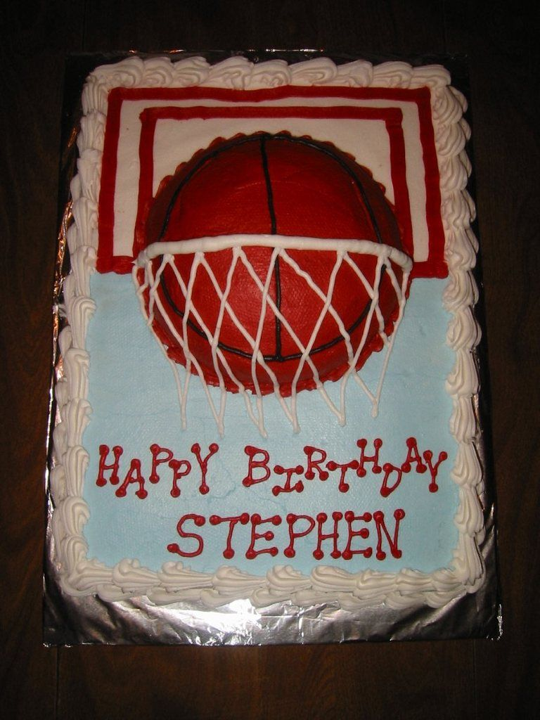 Basketball Birthday Cake Birthday Cakes Pinterest