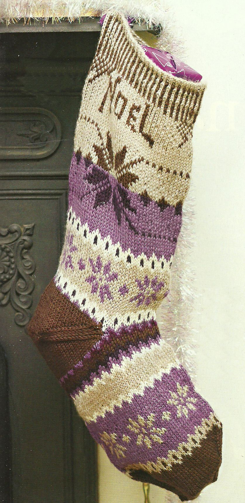 Knit Christmas Stocking Pinterest