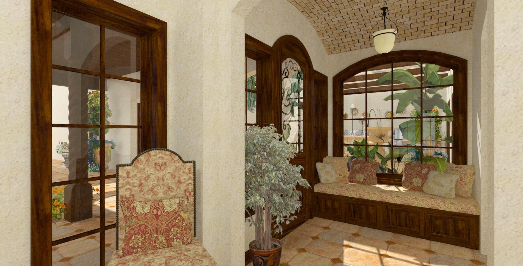 Colonial foyer entry hall foyer spanish colonial for Colonial foyer ideas