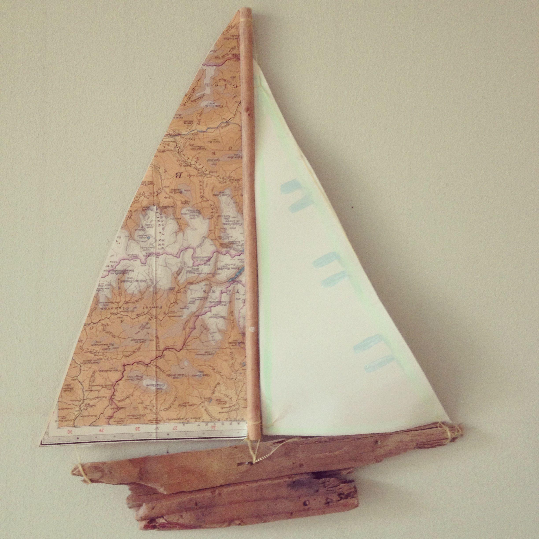 Wood Sailboat Wall Decor : Drift wood boat