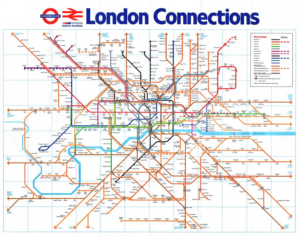 Historical Map: London Connections, 1988 The reverse side of the ...