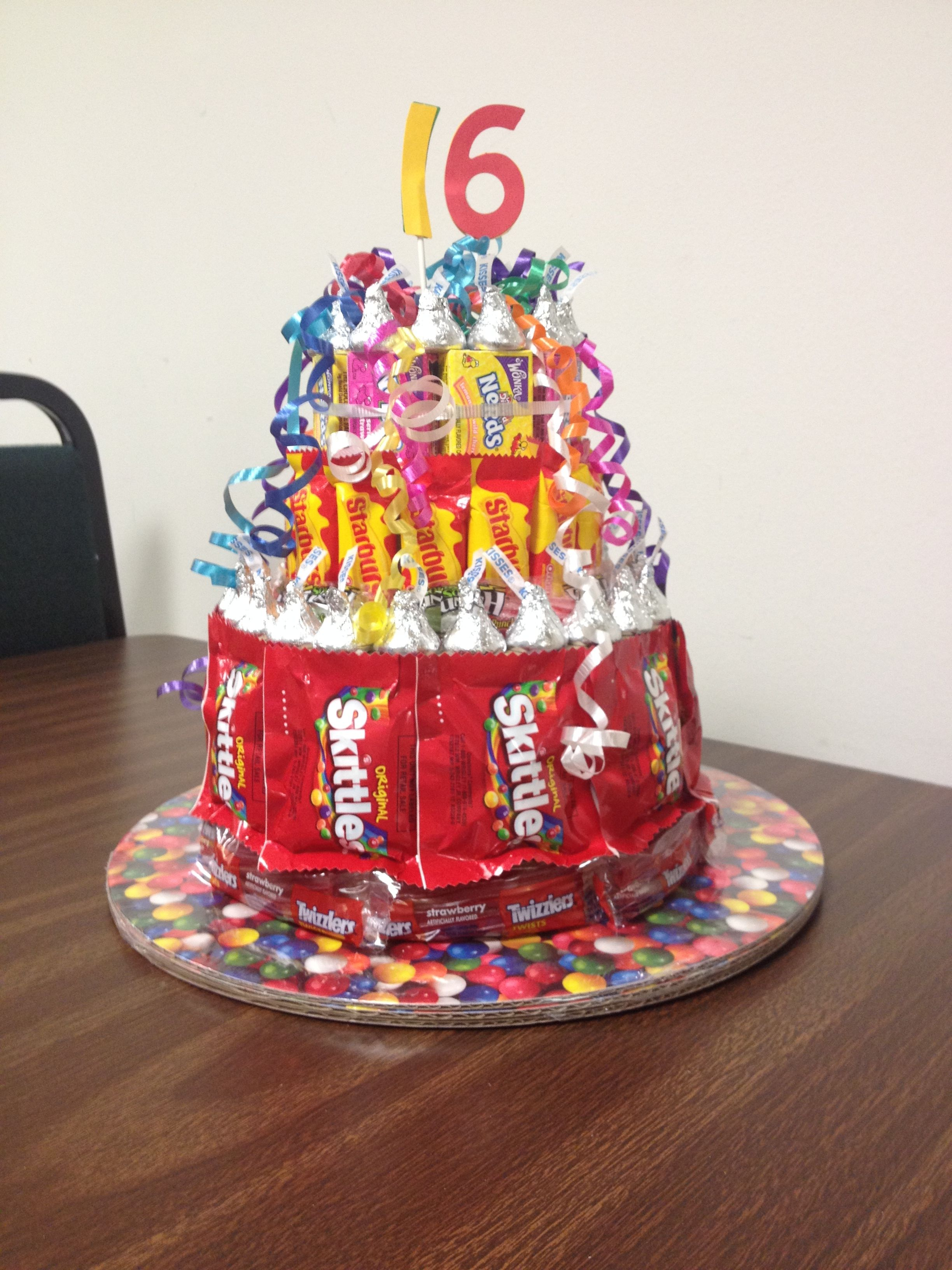 Sweet 16 Birthday Candy Tower Cake Party Ideas Pinterest