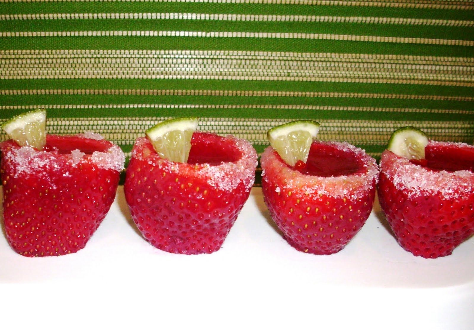 Fresh strawberry margarita jello shots | Enhanced Beverages | Pintere ...