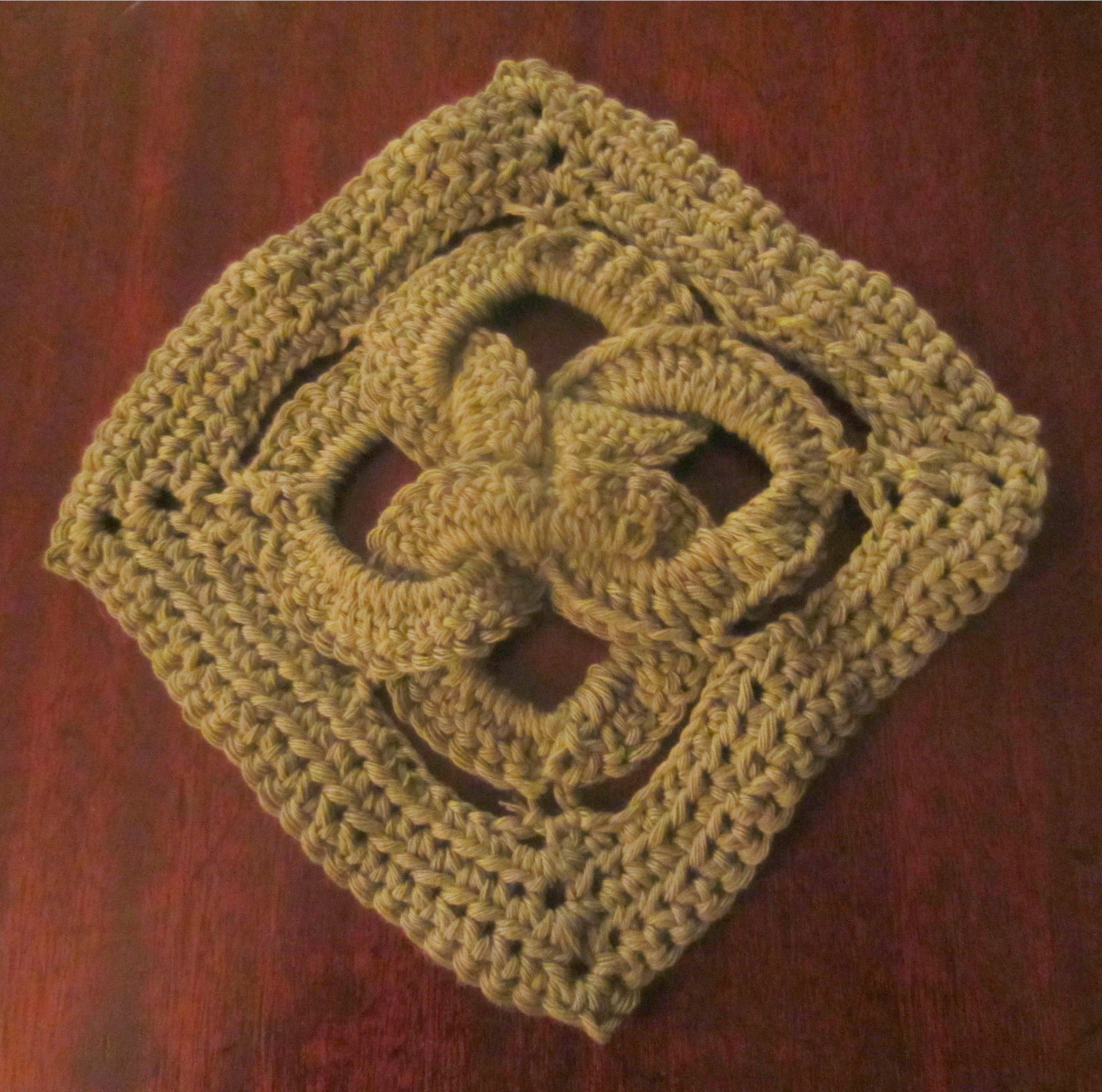Crochet Knot : Cotton Crochet Celtic Knot Dishcloth Yarn Workings Pinterest