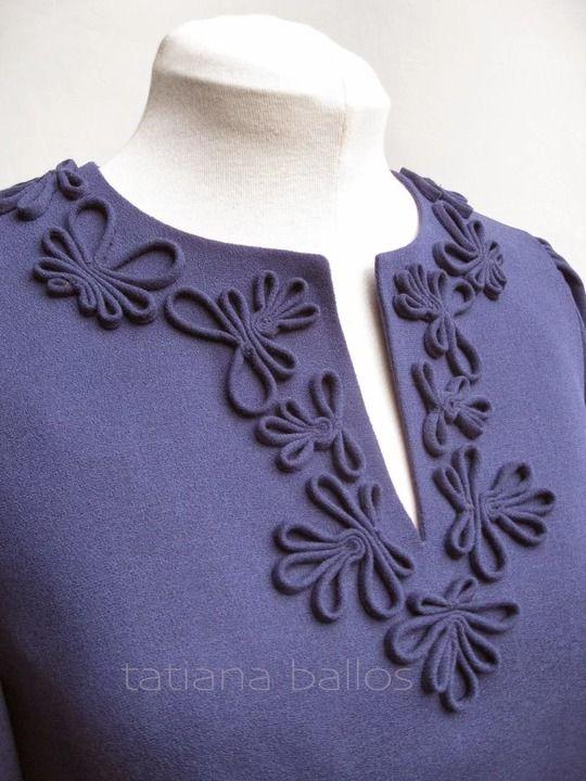 Узоры из тесьмы на блузке