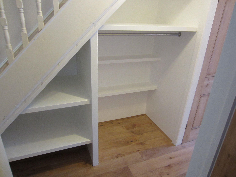 Storage Space Under Stairs Basement Ideas Pinterest
