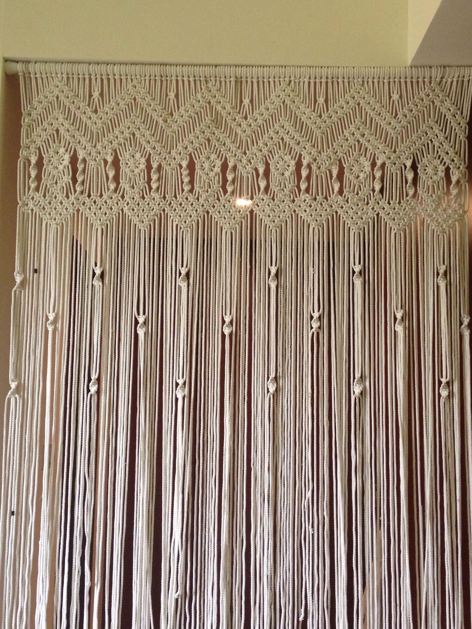 Macrame Curtain Hous Ish Pinterest
