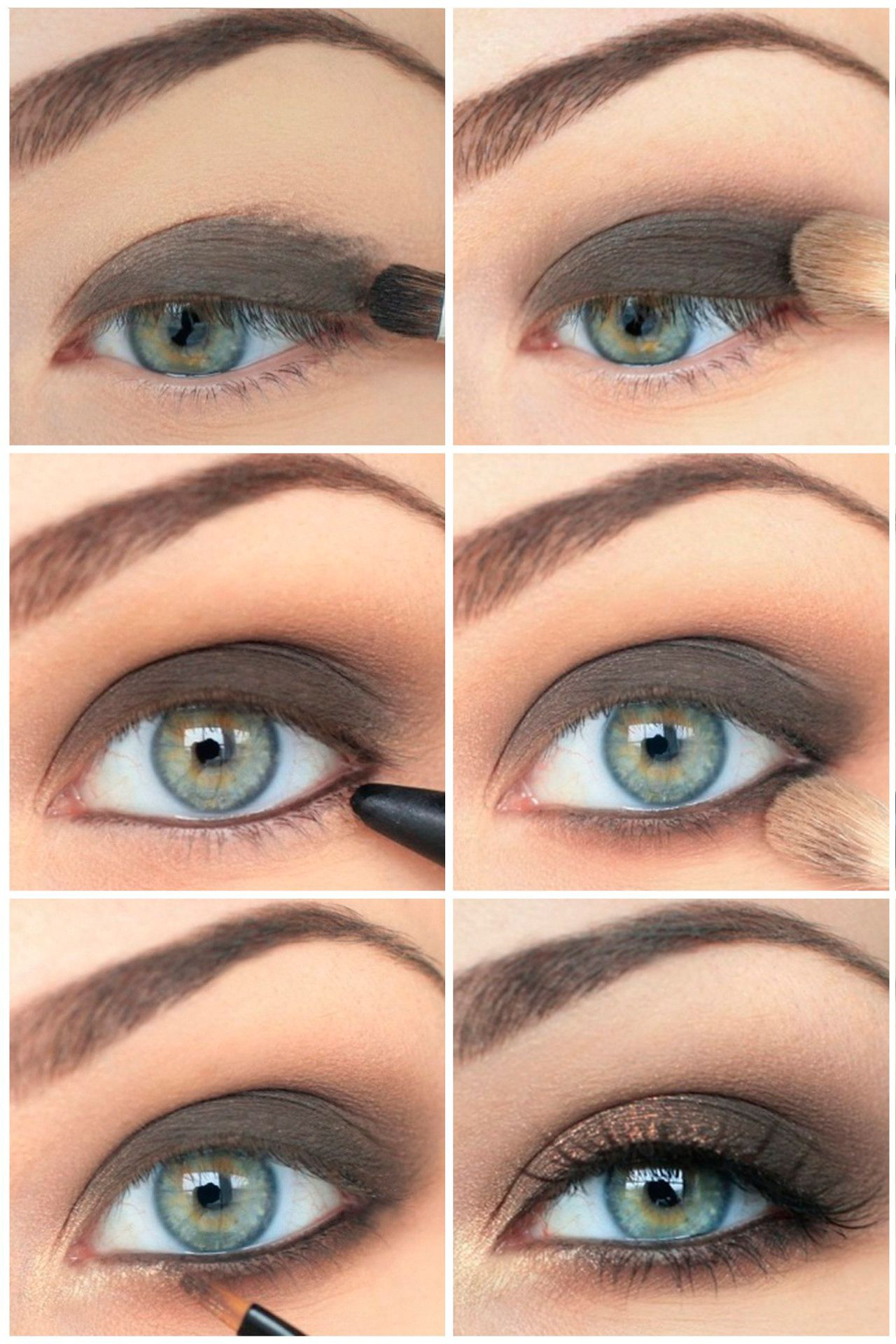 Фото дневного макияжа голубых глаз
