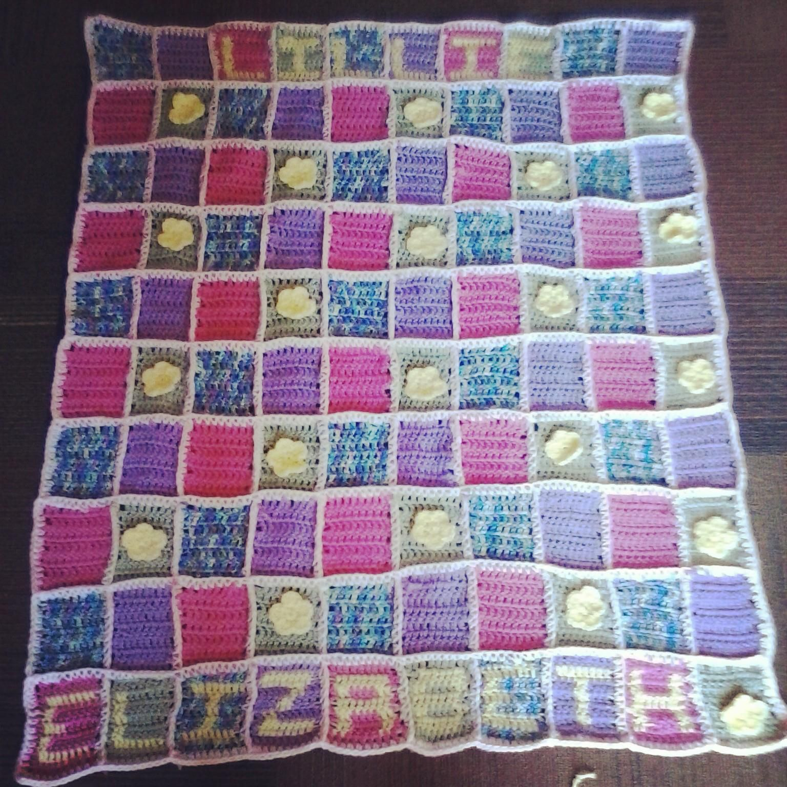 Crocheting Names On Blankets : Crochet Baby blanket with Name Crochet Projects Pinterest