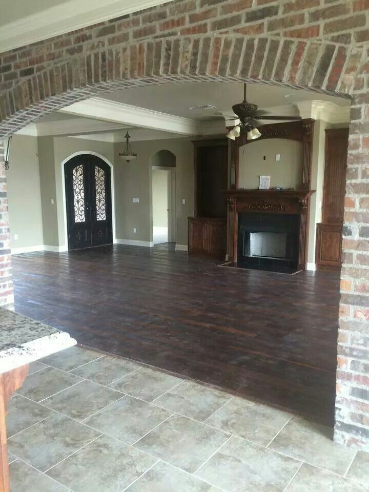 Brick walls dark wood floors beautiful home decor pinterest Gorgeous home decor pinterest