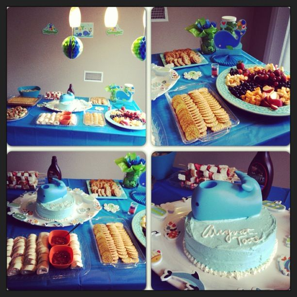 whale baby shower theme boy party ideas pinterest