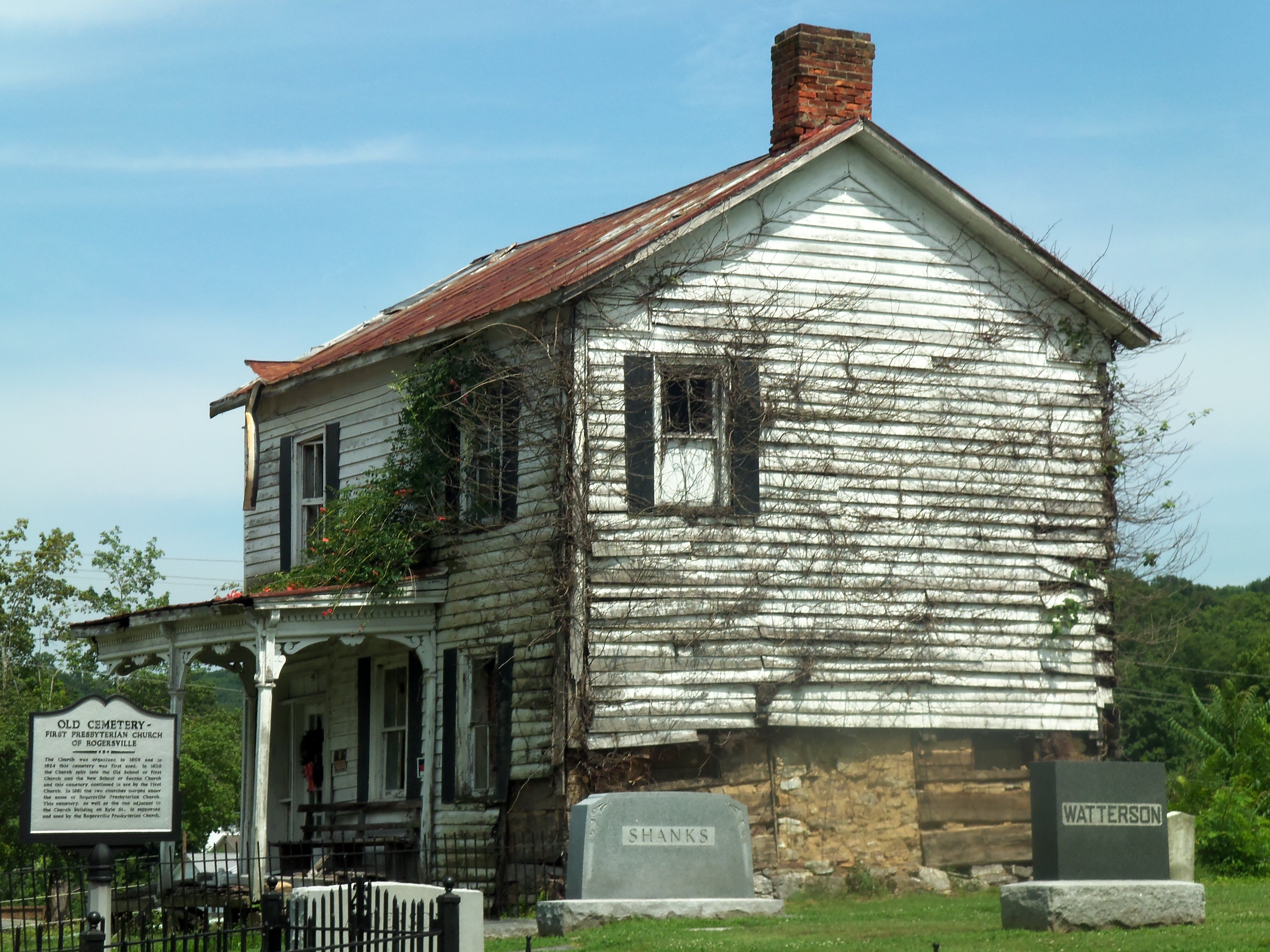 Old house and cemetery rogersville tn photography Regional house