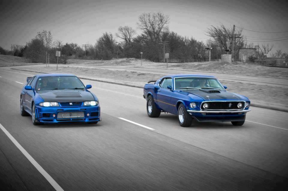 Skyline Vs Mustang Cars Pinterest