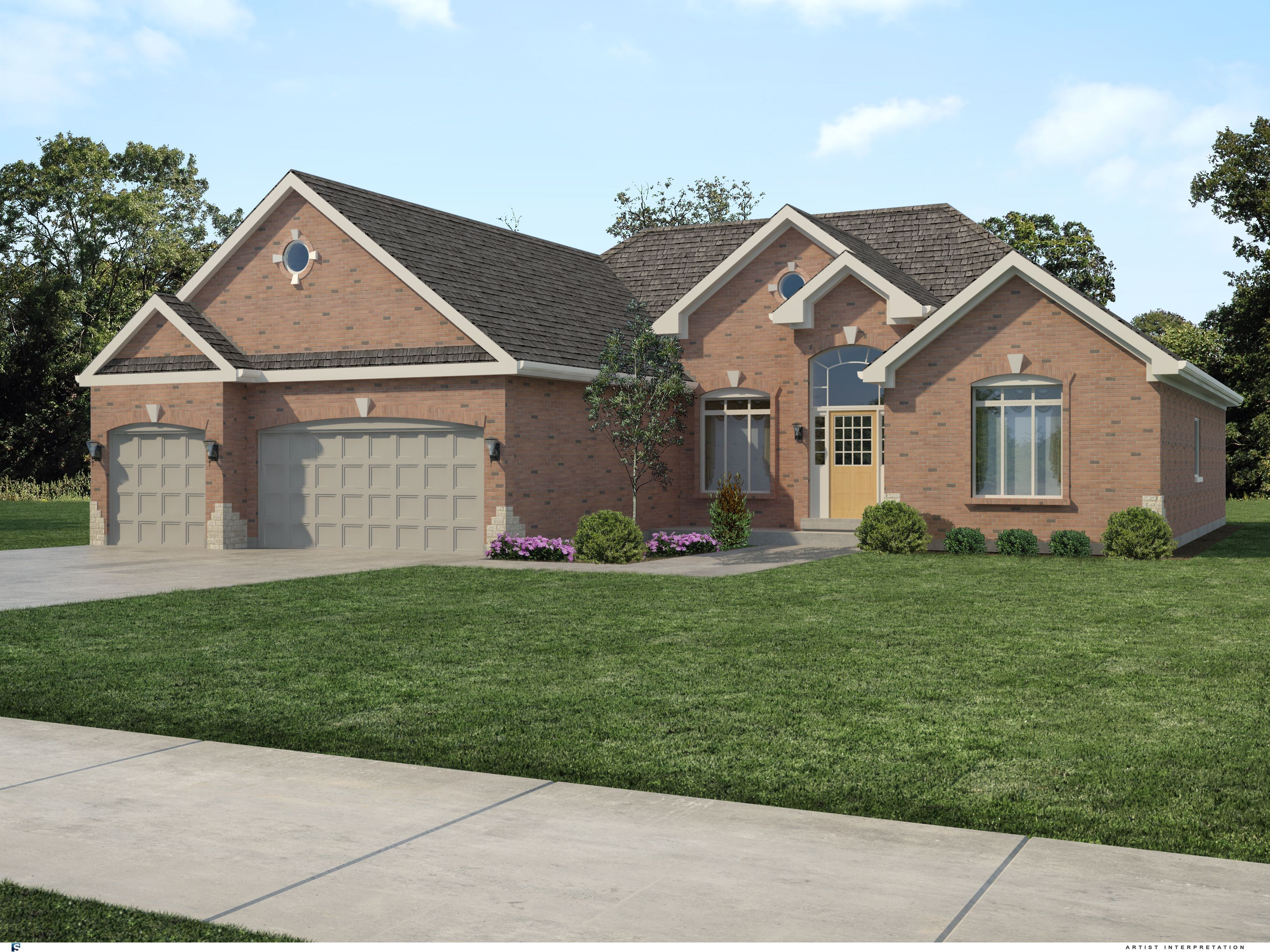 A ranch home with curb appeal house plans pinterest for Ranch house curb appeal