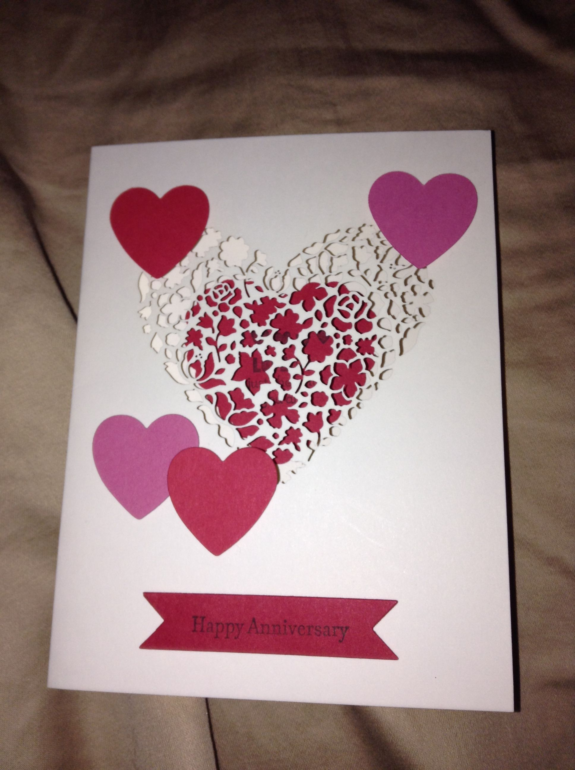 Anniversary card stampin up cards ideas pinterest