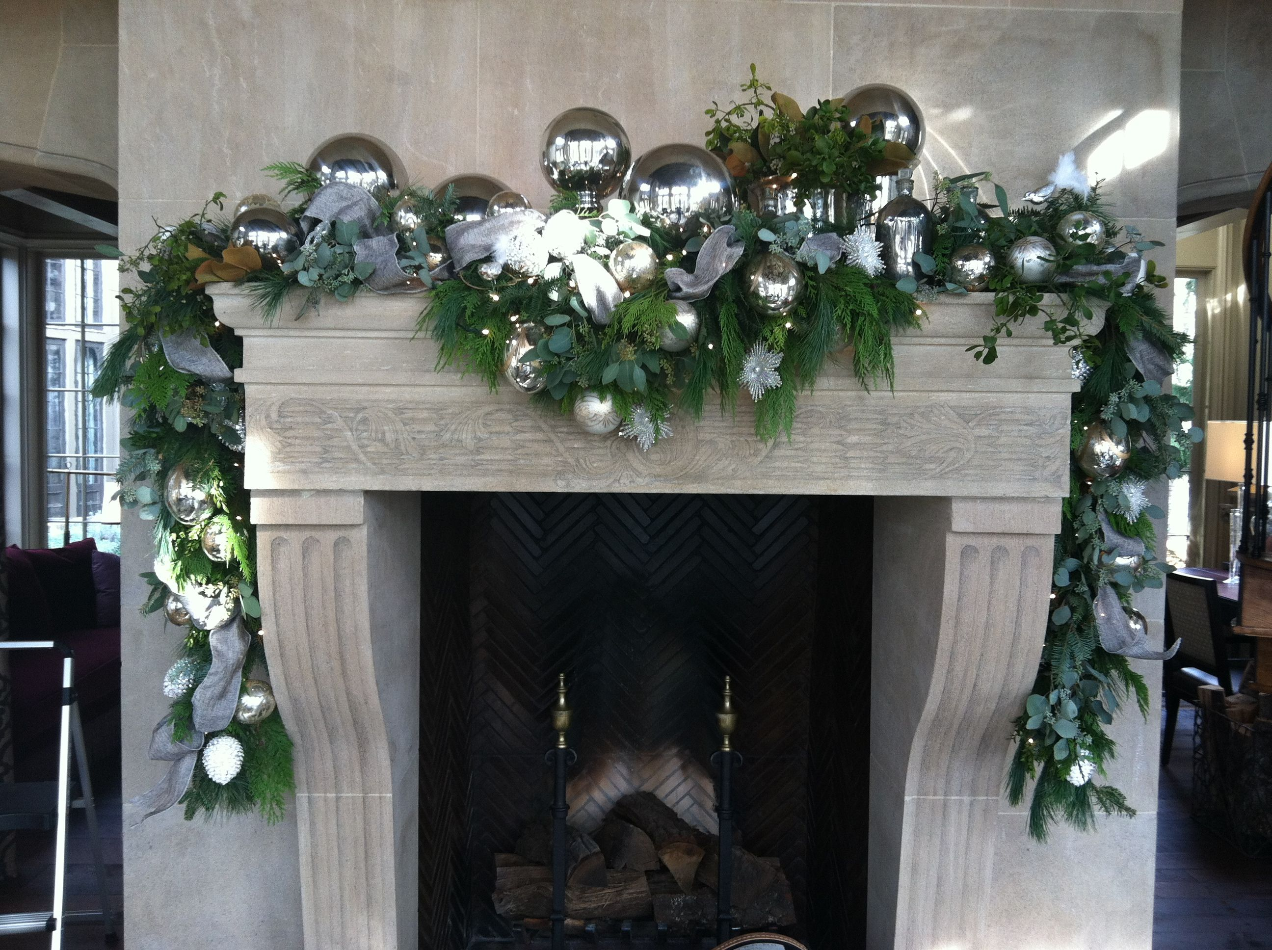 Decorating A Mantel For Christmas Pinterest Crafts