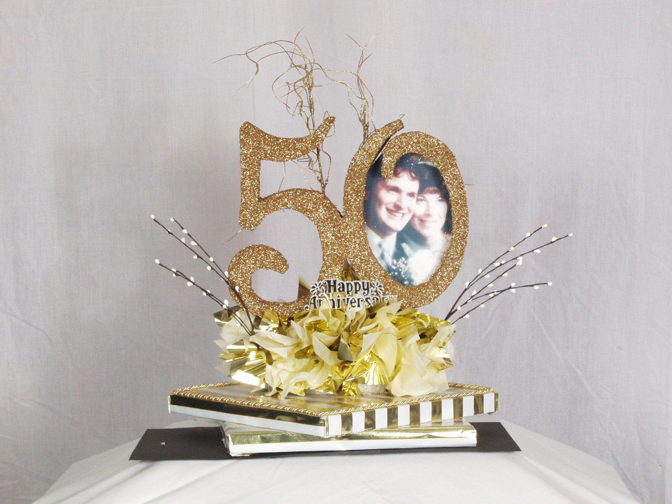50th anniversary centerpiece craft ideas pinterest for Decoration 50th anniversary