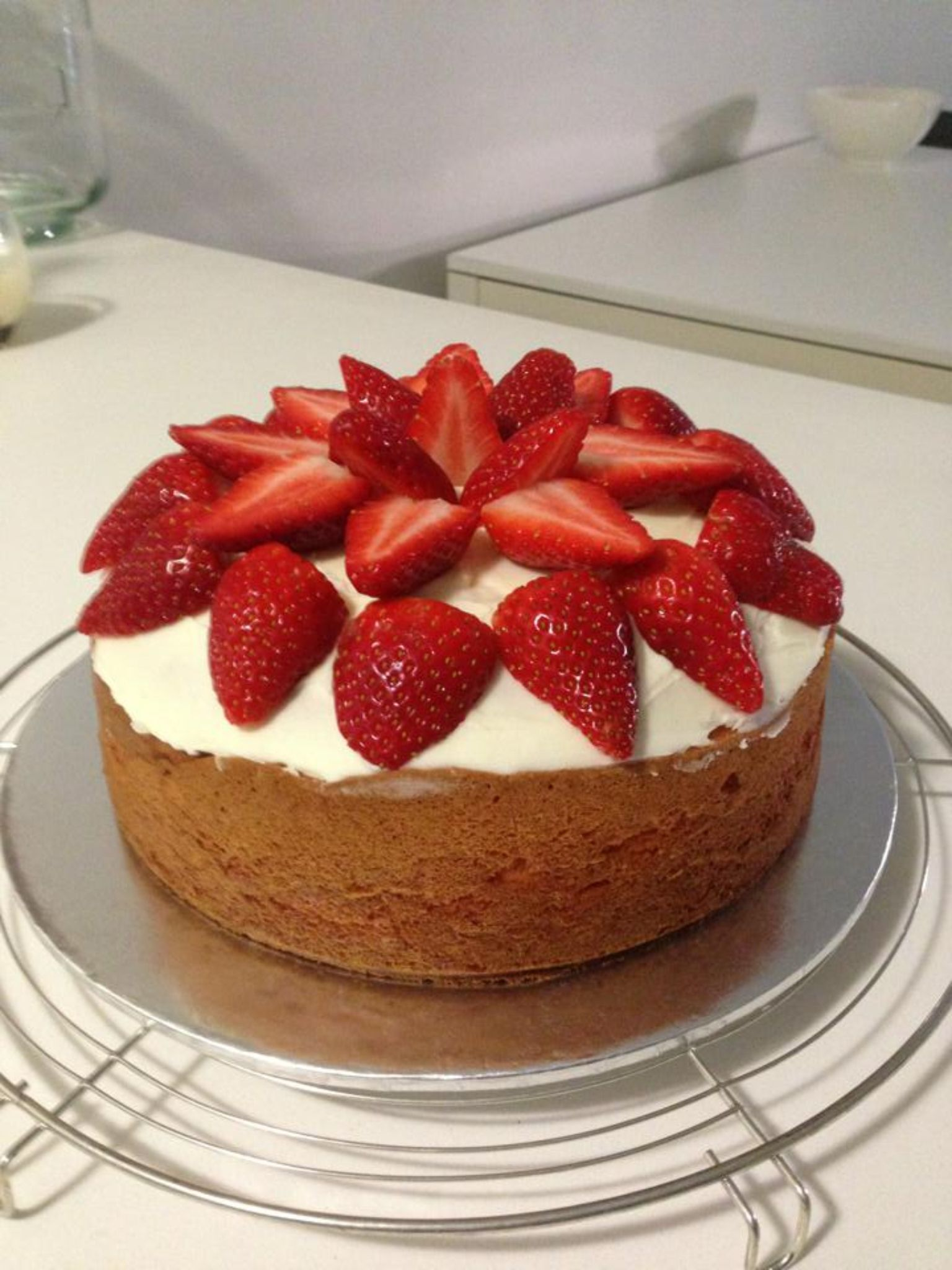 strawberry sponge cake essay Everybody loves a victoria sponge cake recipe, and this one is a real beauty packed with fresh strawberries, whipped cream and vanilla, it's sure to impress try making it for afternoon tea.
