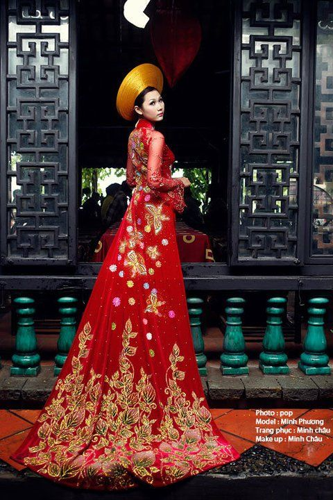 Blue Wedding Ao Dai Vietnamese wedding ao ...