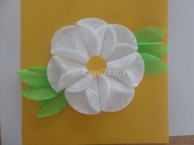 Цветы из ваты для детей