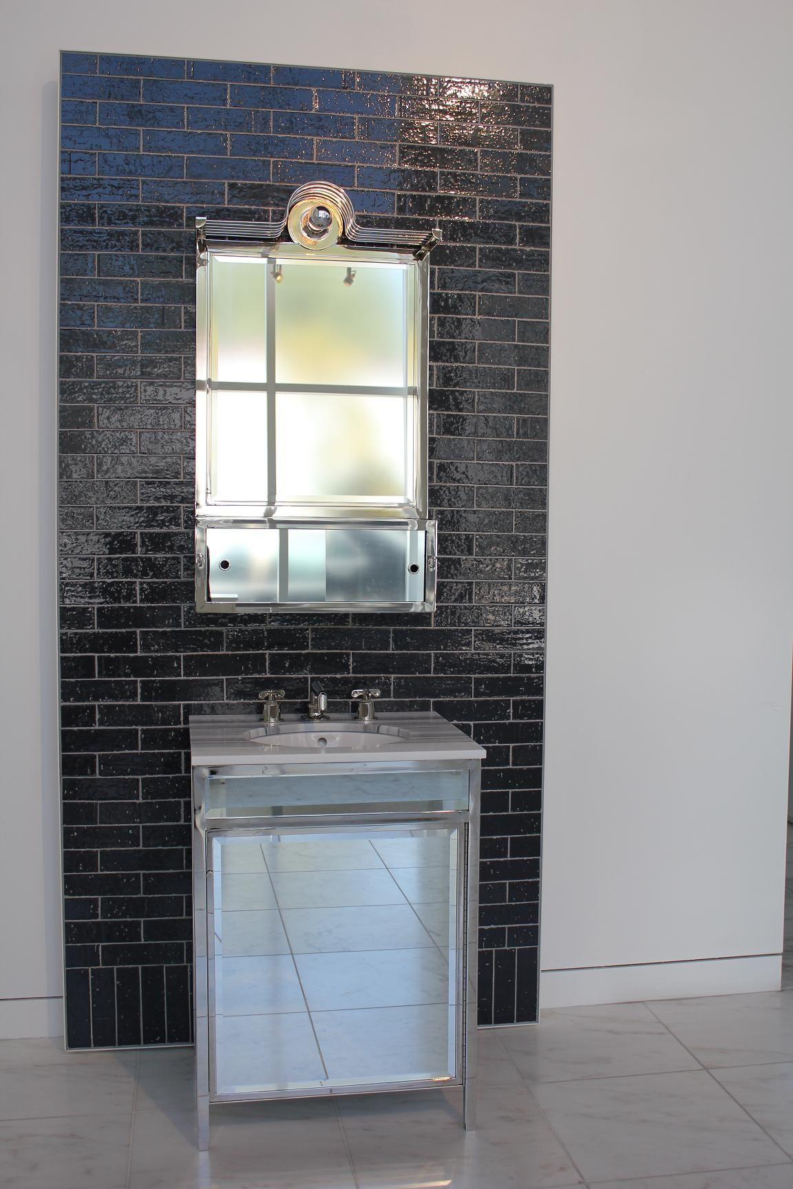Shiny Black Subway Tile Inspiration Bathrooms Pinterest
