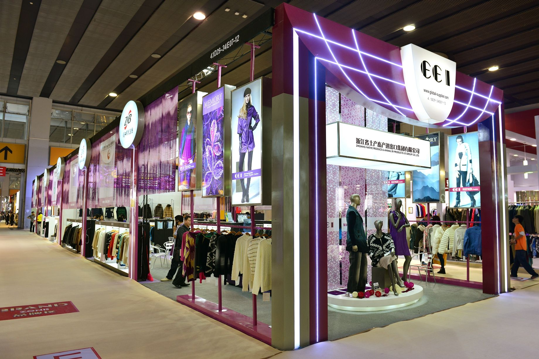 Fashion Exhibition Booth : Zjnac to highlight textile and garments with booths at