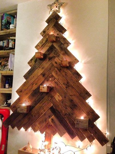 Recycled pallet wood Christmas tree | Christmas | Pinterest