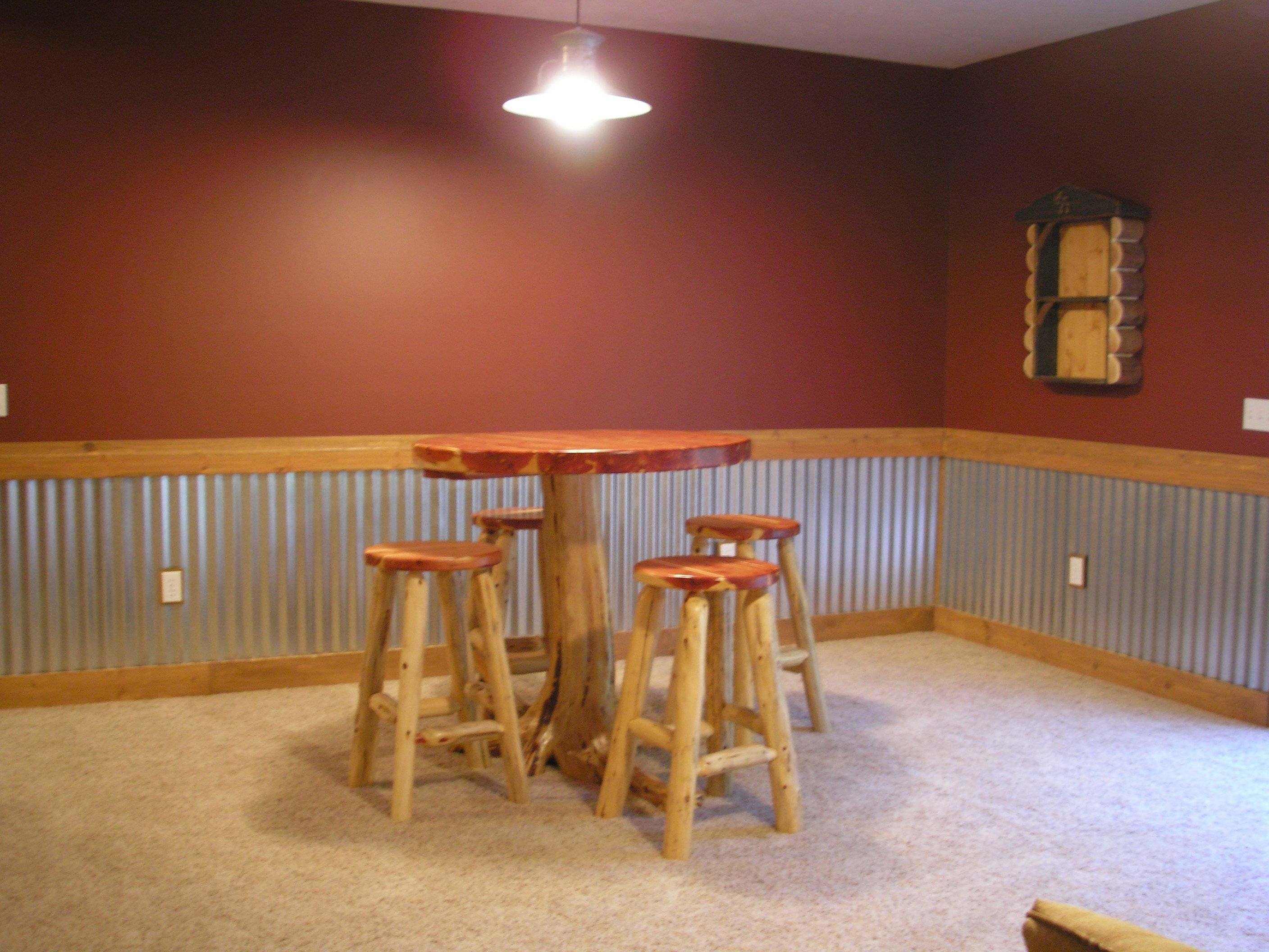 basement the tin and wall color decor pinterest