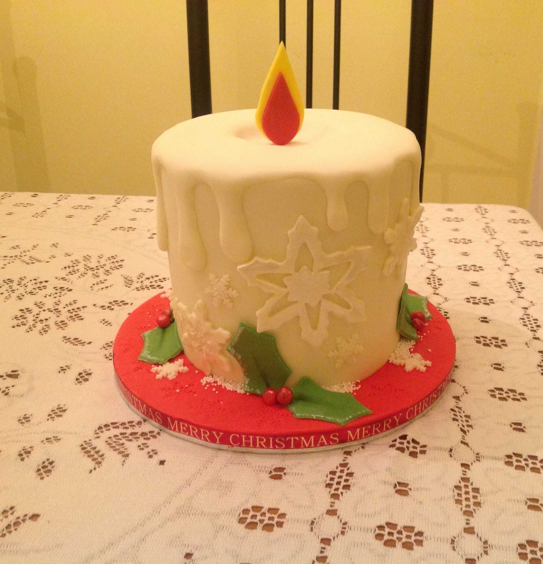 Christmas Candle Cake Images : Candle Christmas Cake Creative cakes! Pinterest
