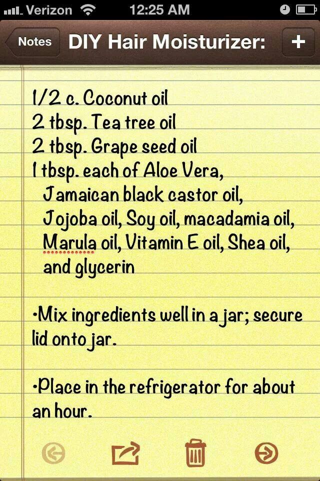 Daily Moisturizer For Natural Hair Diy