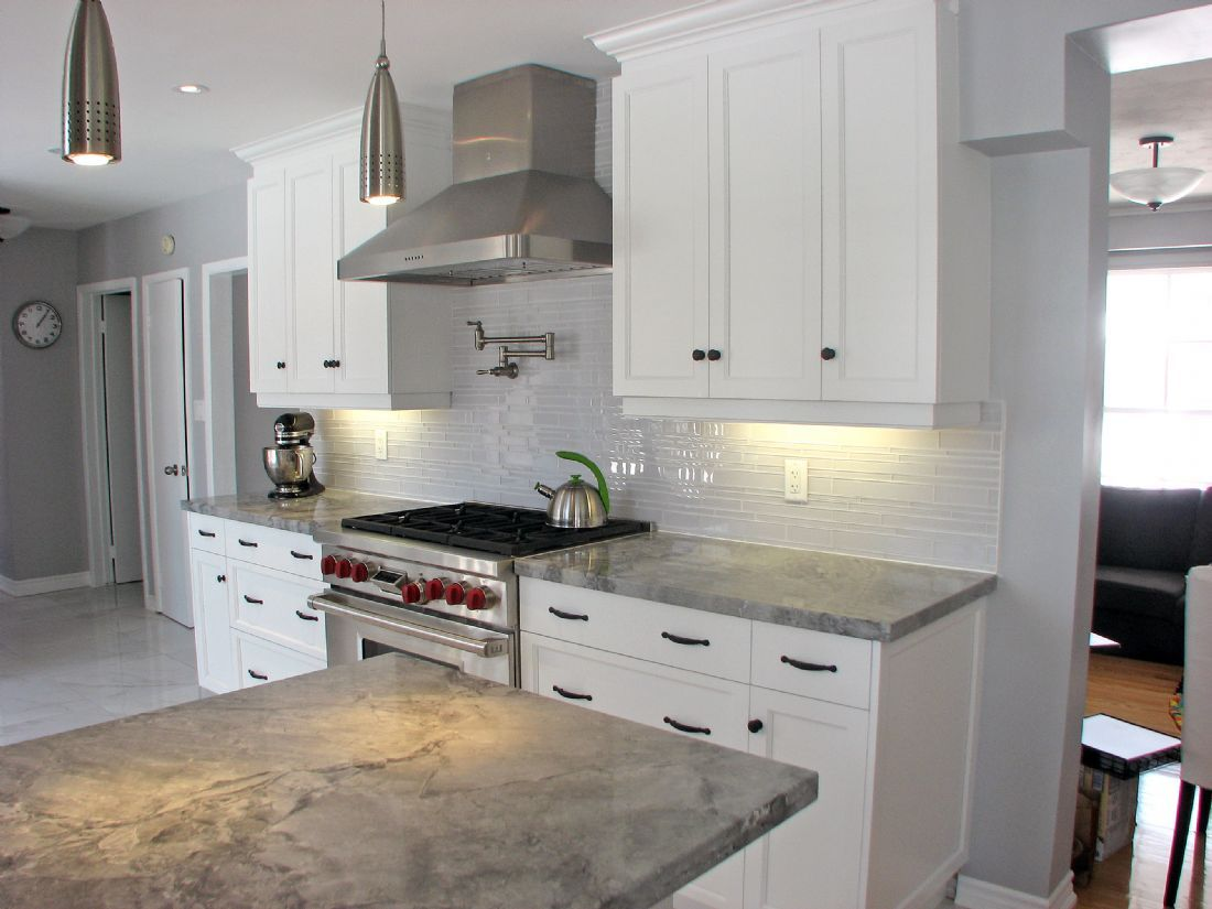 Gray Quartz Counters Kitchen Pinterest