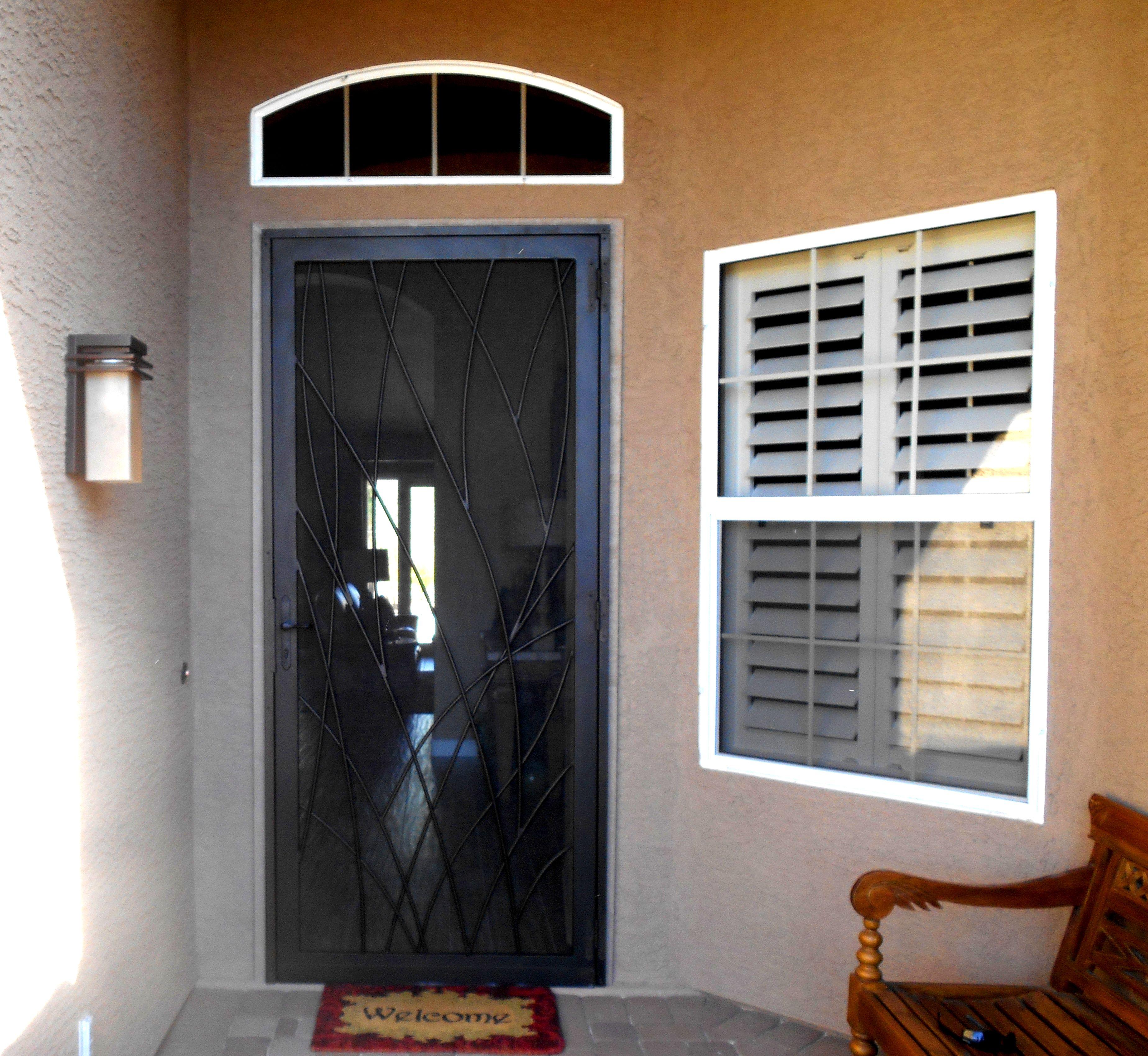 3400 #6F3B1A  Gates Security Door Grisham Steel Security Doors / Bars Pin wallpaper Steel Security Bars For Doors 7553696