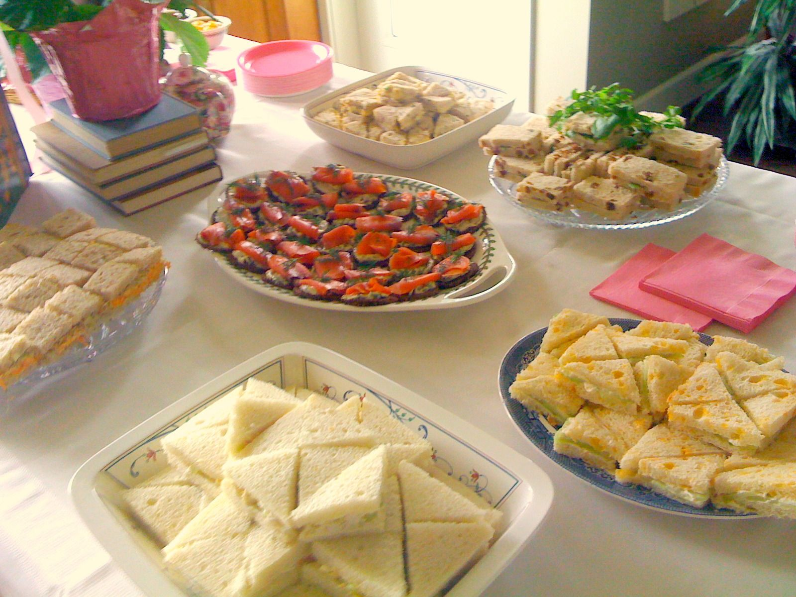 baby shower tea sandwiches food for thought pinterest