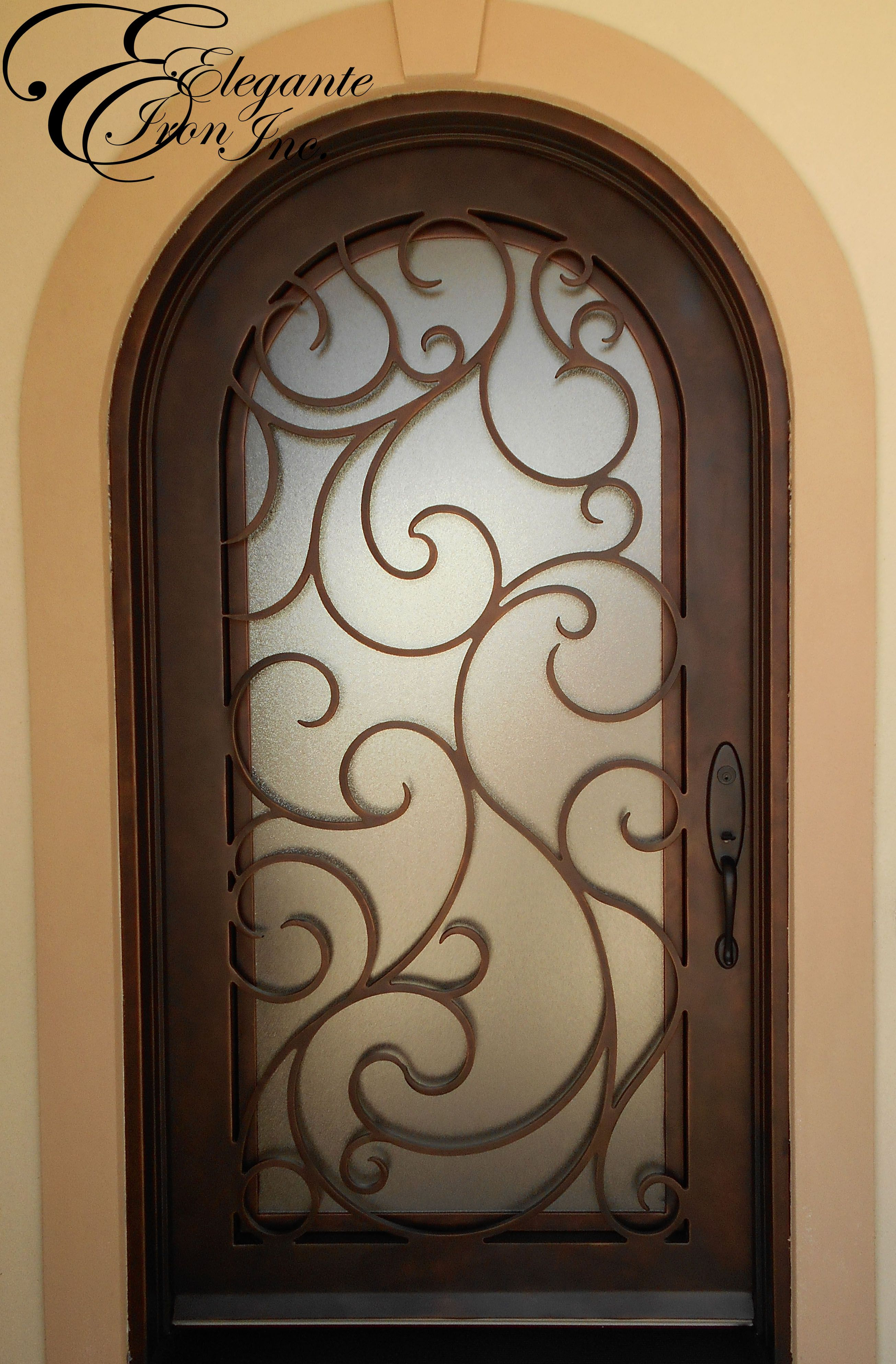 3971 #926F39 Wrought Iron Front Door Full Arch. Single Doors Pinterest picture/photo Rod Iron Front Doors 43092610