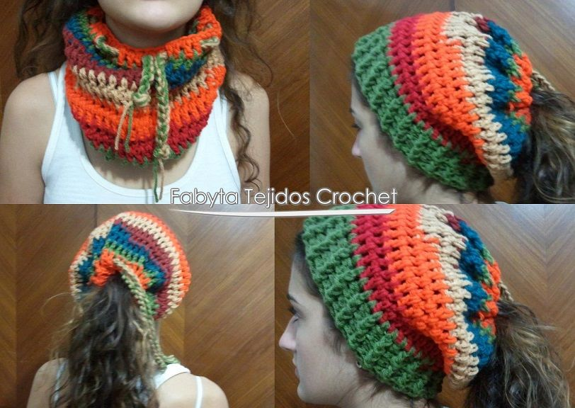 cuello - gorro tejido | Tejidos lady's | Pinterest