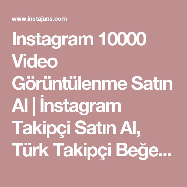Instagram 10000 Video Görüntülenme Satın Al | İnstagram Takipçi ...