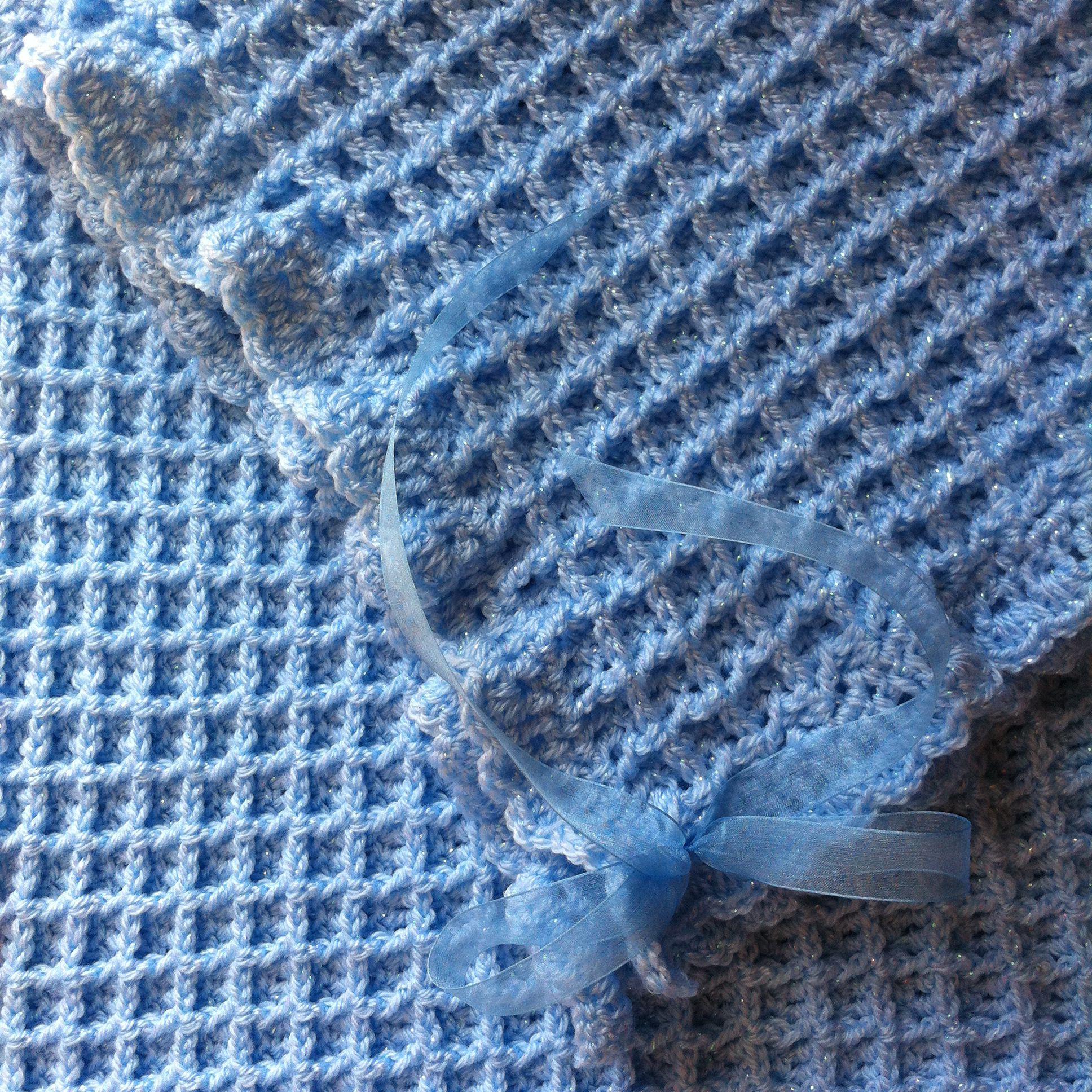 Crochet Waffle Stitch : Crochet baby blanket in waffle stitch Crochet Pinterest