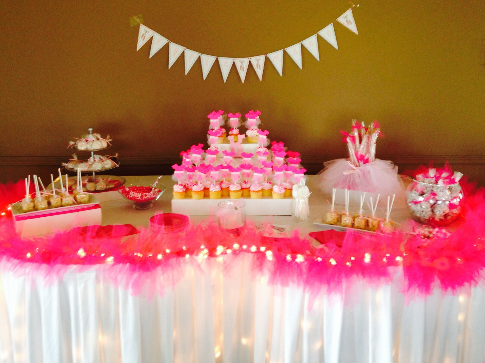tutu themed baby shower candy table baby shower ideas pintere