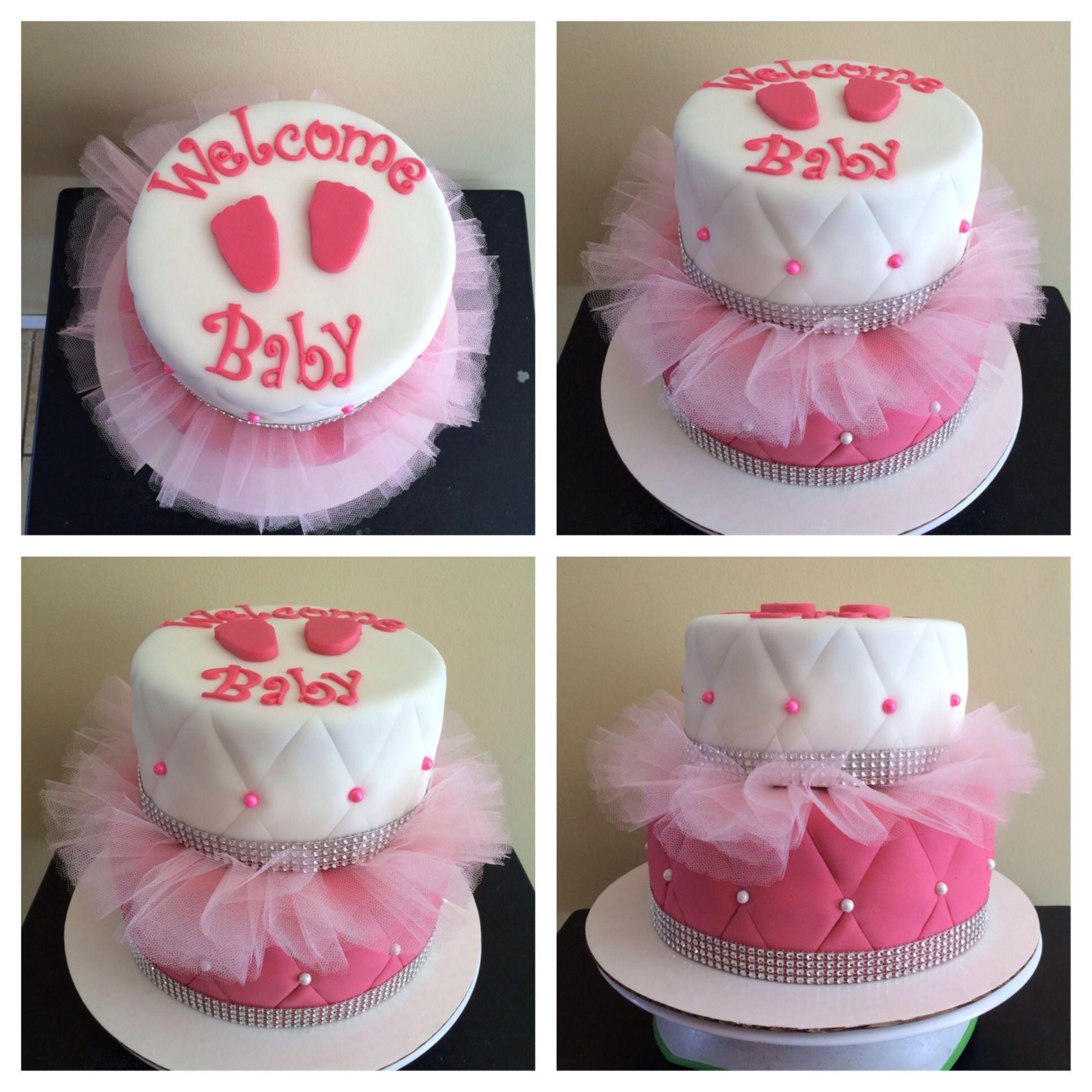tutu baby shower cake cakes pinterest