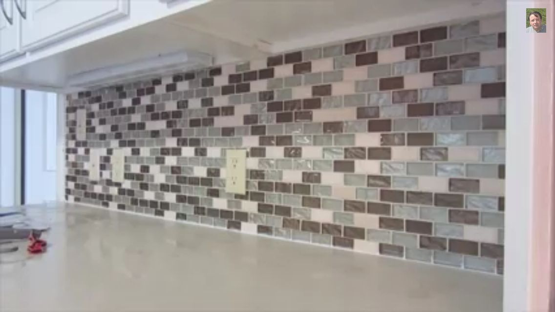 Kitchen backsplash from home depot Home ideas
