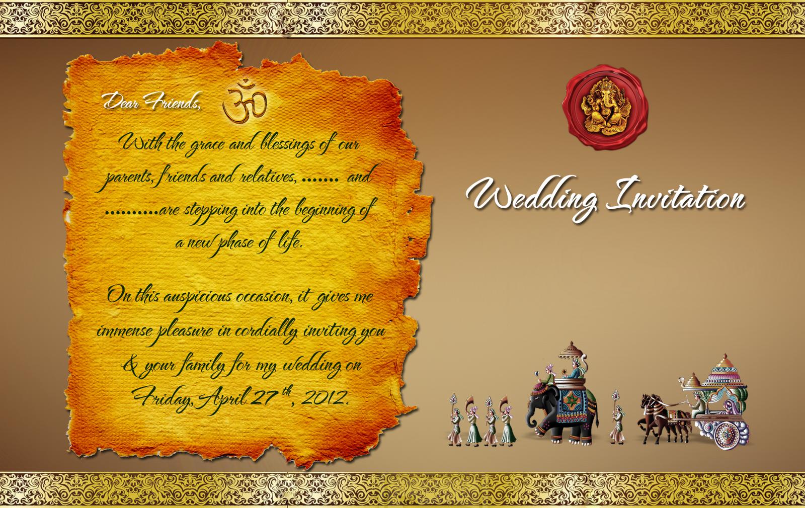 free wedding invitation card template | trattorialeondoro