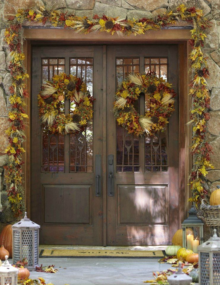 very nice front door fall decor beauty of autumn pinterest