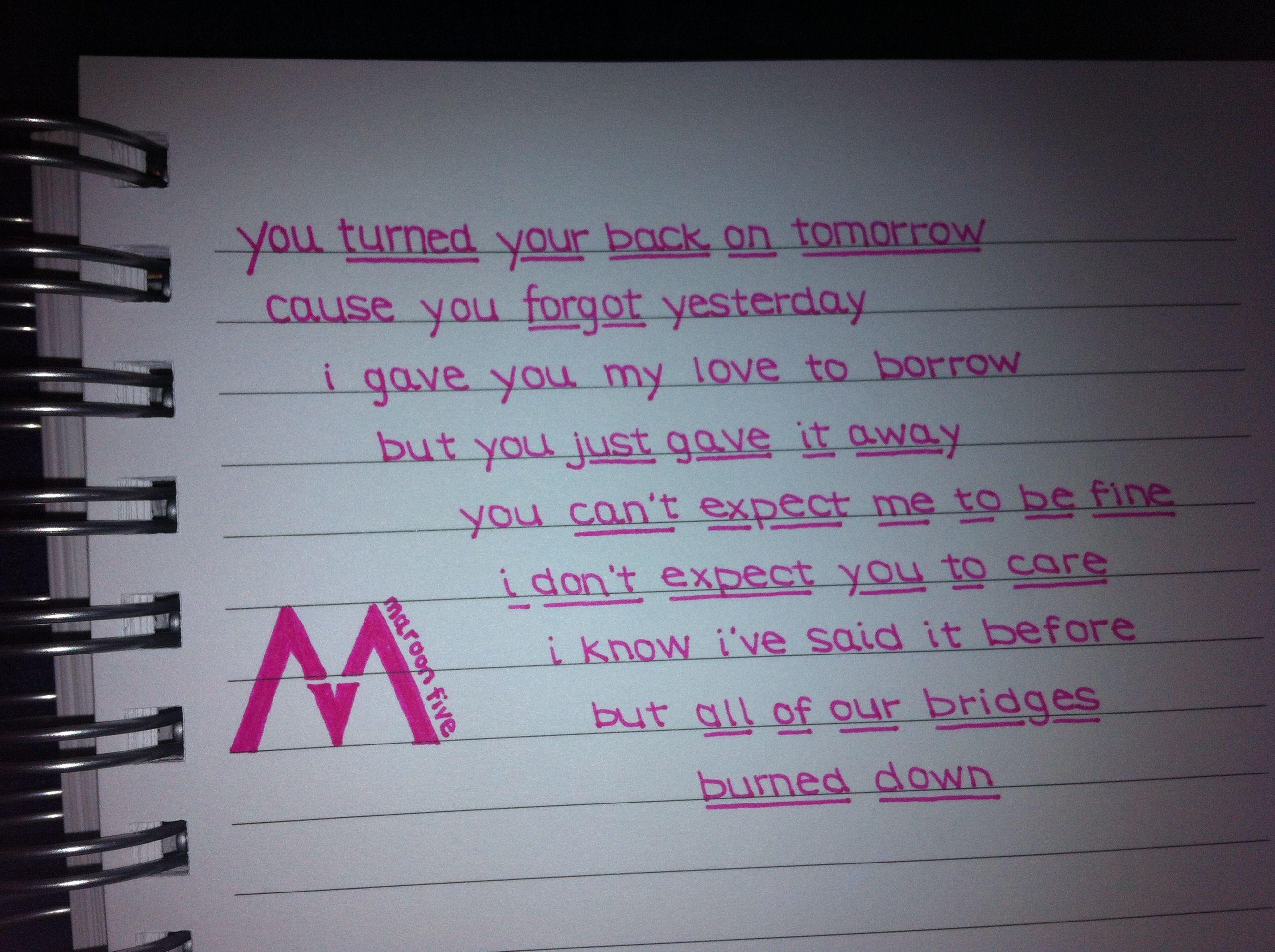 Payphone - Maroon 5 Quotes Pinterest