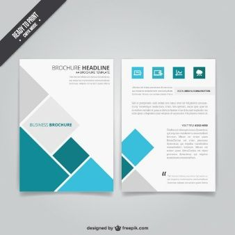 Download Abstract Brochure With Colorful Hexagons For Free Brochure Design Business Brochure