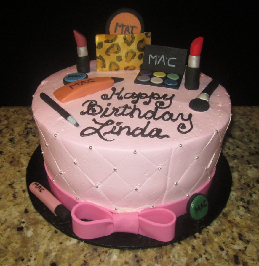 Beauty, Makeup Decorated Cake Party Ideas Pinterest