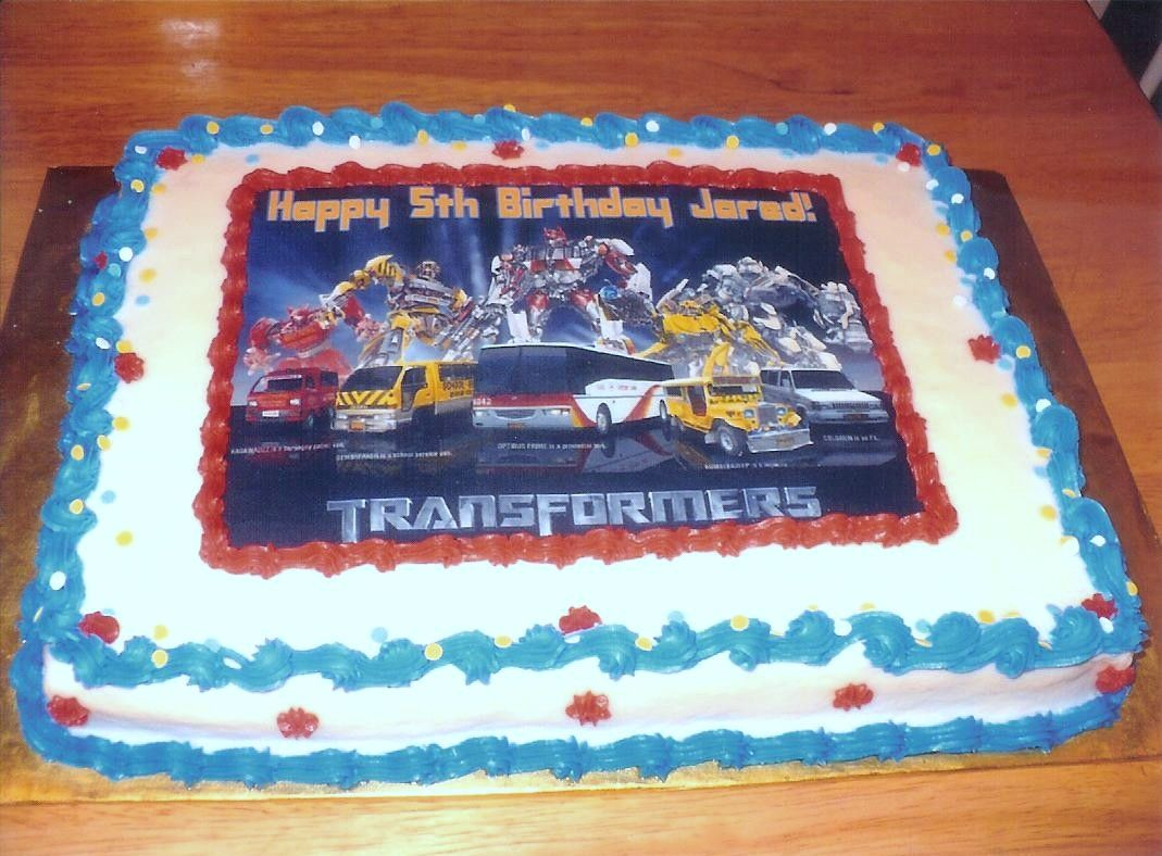 Transformers Birthday Cake Party ideas Pinterest