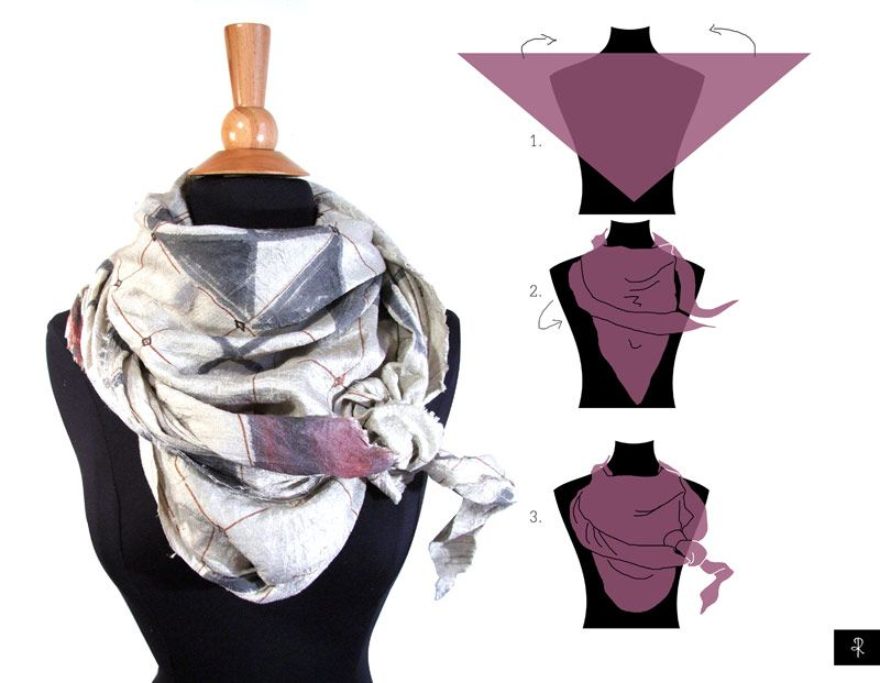 How to wear a scarf fashion pinterest