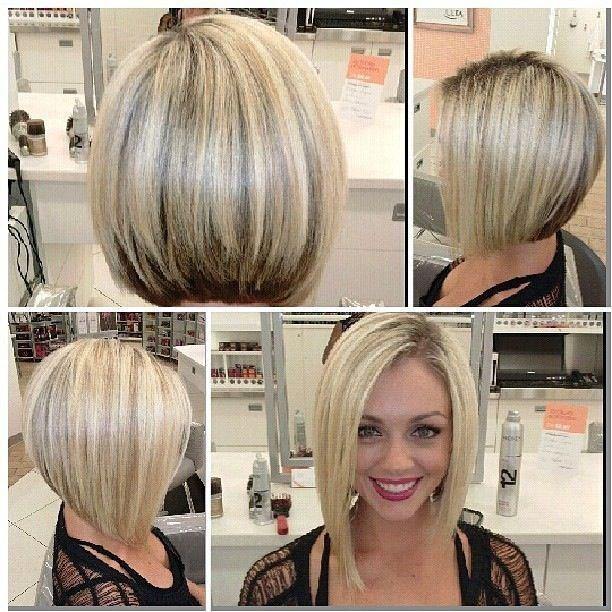 Прическа боб на средние волосы без челки