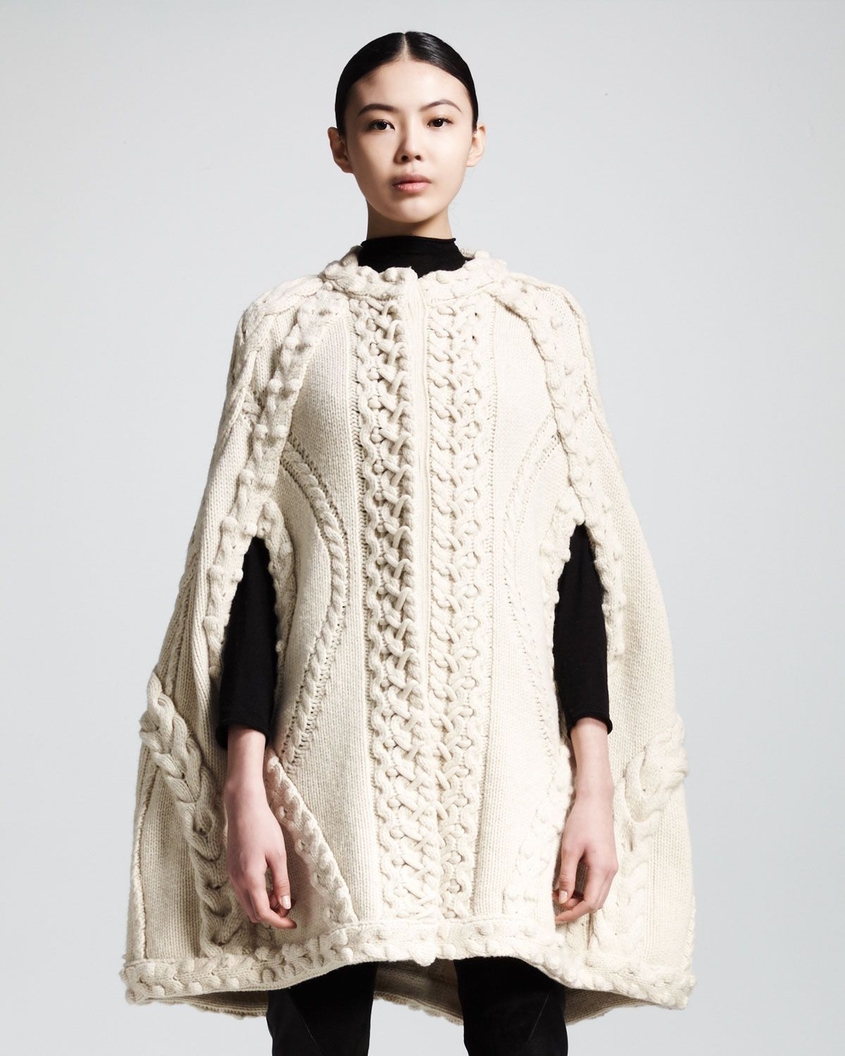 Cable Cape Knitting Pattern : Alexander McQueen Cabled Cape Inspiration -Knit Edition Pintere?